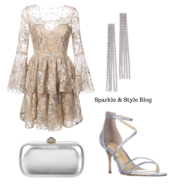 New Year's Eve LookBook - Sparkly Patterned Dress