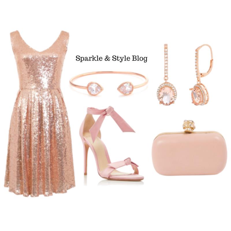 New Year's Eve LookBook - Rose Gold Dress